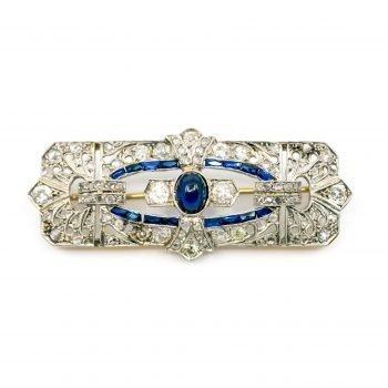 Diamond, Sapphire, Gold, Platinum Brooch 2274GM Image1