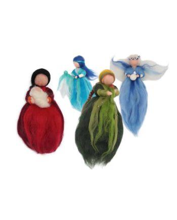 Engel aus Schafwolle