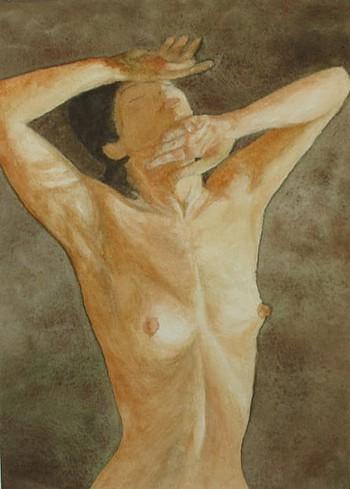 Estudio de modelo desnuda a la acuarela
