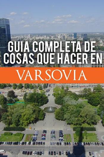 Guia completa de cosas que hacer en Varsovia