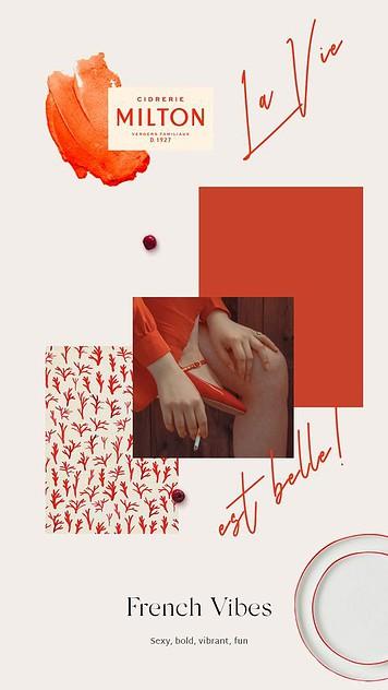 Moodboard imagen de marca con color corporativo rojo