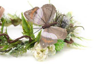 Wianek Kwiat Pustyni z motylem