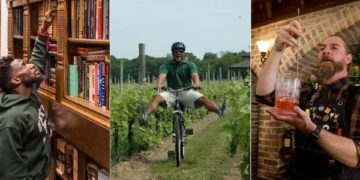 Ideas for cool gifts for the dads in your life this fathers day: a scavenger hunt, a bike ride in a vineyard, a cocktail class