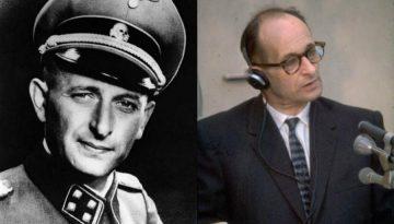 Adolf Eichmann cuando era nazi y durante el juicio