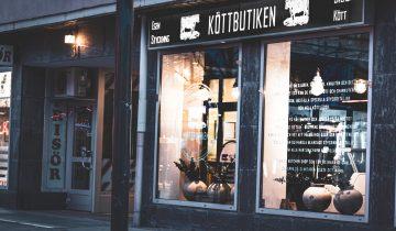 Grafisk profil / Brand identity & webb för Köttbutiken i Luleå.