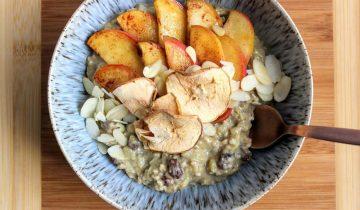 Spiced Apple, Raisin & Cinnamon Protein Porridge