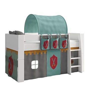 Steens For Kids Utensilo,Taschenset für Kinderbett, Hochbett, 93 x 38 x 1 cm (B/H/T), Baumwolle, grau ,blau - 2