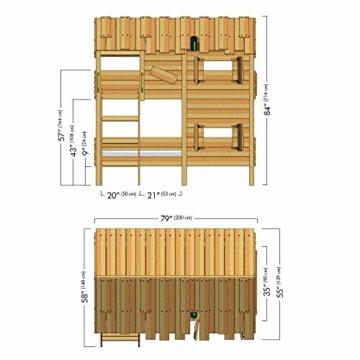 WICKEY Kinderbett Abenteuerbett CrAzY Cherry Spielbett 90x200 cm Einzelbett Bett - 6