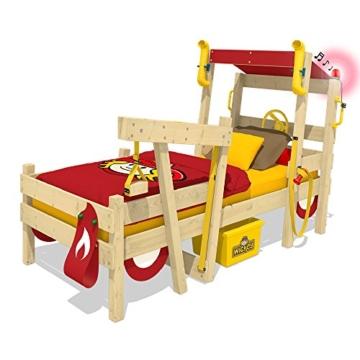 WICKEY Kinderbett 'CrAzY Sparky Max' im Bagger-Look - Einzelbett aus Massivholz - 90x200 cm - 2