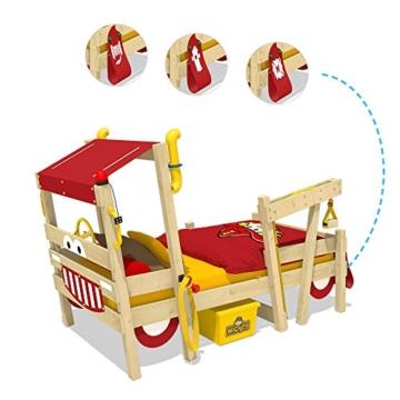 WICKEY Kinderbett 'CrAzY Sparky Max' im Bagger-Look - Einzelbett aus Massivholz - 90x200 cm - 3
