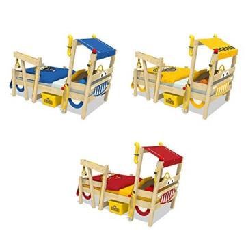 WICKEY Kinderbett 'CrAzY Sparky Max' im Bagger-Look - Einzelbett aus Massivholz - 90x200 cm - 4
