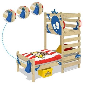 WICKEY Spielbett CrAzY Octopus Kinderbett 90x200 Einzelbett aus Holz mit Spielpodest für Jungen und Mädchen mit Lattenboden, grün - 3