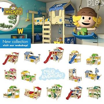 WICKEY Spielbett CrAzY Octopus Kinderbett 90x200 Einzelbett aus Holz mit Spielpodest für Jungen und Mädchen mit Lattenboden, grün - 5