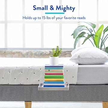 BedShelfie Slide Das Original Nachttisch Regal - 3 Farben / 3 Größen - GESEHEN AUF Business-Insider und Kickstarter (Slide, Bambus in Grau) - 3