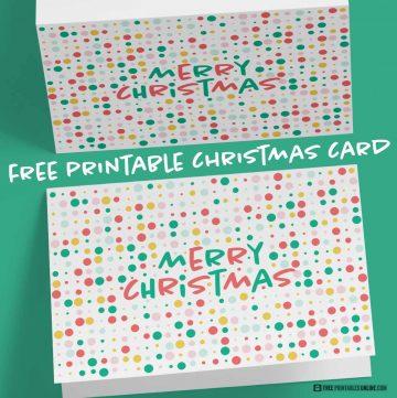 Dotty Christmas Card Printable