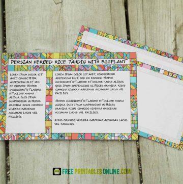Vibrant Tiled Recipe Cards