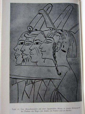 Abbildung verschiedener Menschentypen - Ägypten - Es begann in Babel - Herbert Wendt