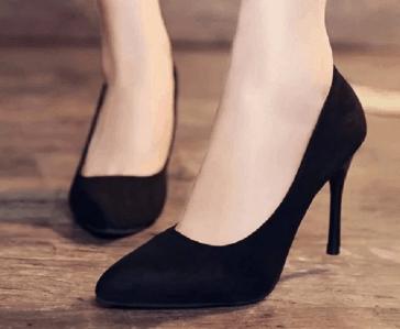 high heels with yoga pants