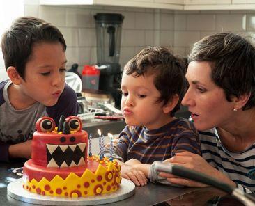 Homemade birthday cake