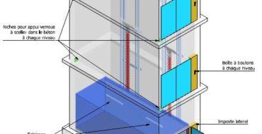 Monte charge accompagné - plan 3D - Cefam Atlas