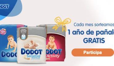 1 año de pañales gratis con Dodot