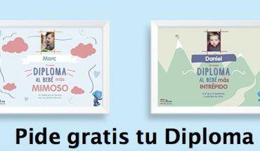 Diploma gratis para bebé