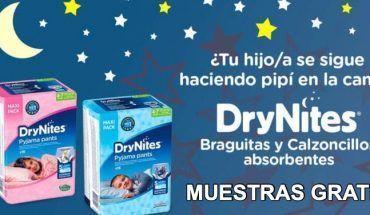Muestras gratis pañales Drynites