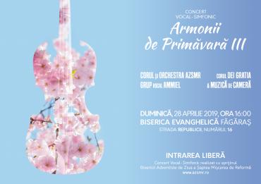 """""""Armonii de Primăvară III"""" – Concert Vocal-Simfonic"""