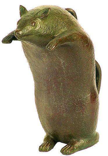 """Bronze-Skulptur """"Aufrechte Ratte"""" von Günter Grass"""