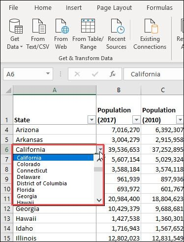 state data validation list with scrollbar.