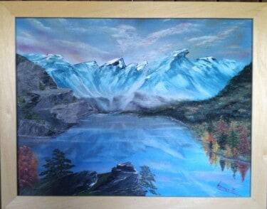 Bergsee in Öl