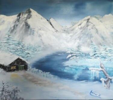 Winterbild in Öl
