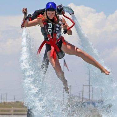 girl water jetpack san diego