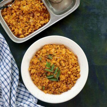 Idli Upma (Easy 15 min Breakfast recipe with leftover Idli)