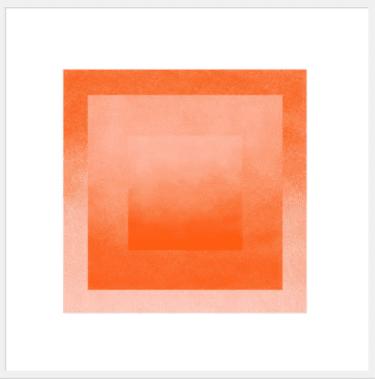 """Peach & Tigerlily: Color Space"" - Open Edition Kunstdruck von Jessica Poundstone"