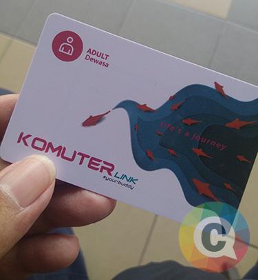 Penampakan kartu komuter di Malaysia