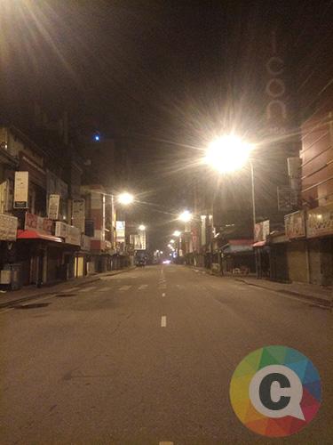 Suasana malam di kota Kolombo