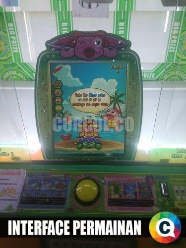 antar muka mesin arcade turtle stacker
