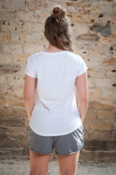 ÄSTHETIKA T-Shirt THE RACCOON white/black back
