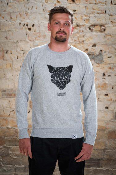 AESTHETIKA Sweatshirt - THE_FOX grey/black front