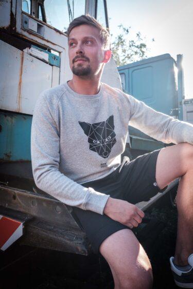 AESTHETIKA Sweatshirt - THE_FOX grey/black mood
