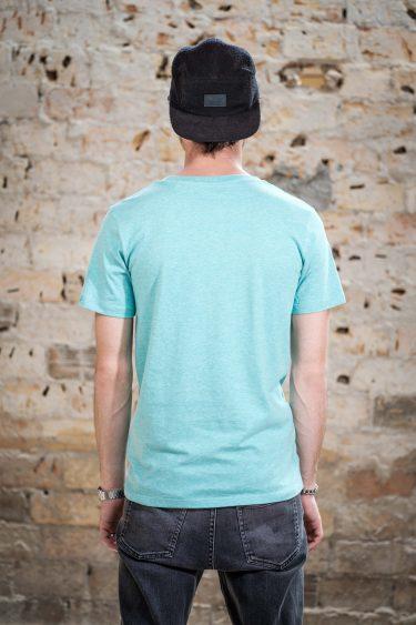 AESTHETIKA T-Shirt - THE FOX mid green/black back
