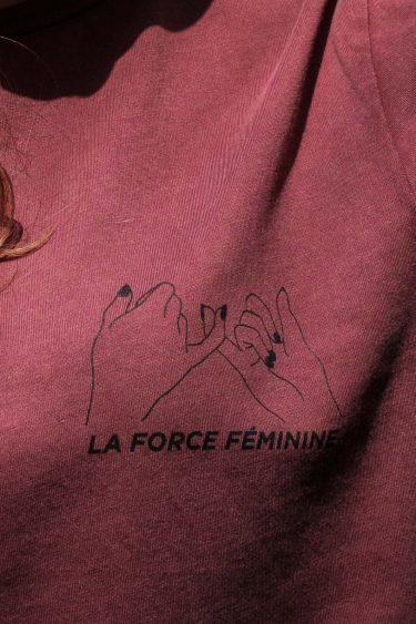 ÄSTHETIKA T-Shirt Roll Up - LA FORCE FÉMININE burgundy/black detail