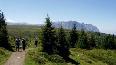 výhled z planiny Puflatsch, Schlern