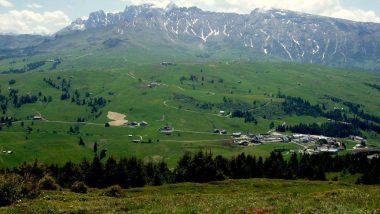 planina Puflatsch, výhledy na Dolomity