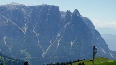 planina Puflatsch, výhled na Schlern