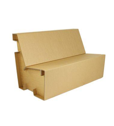 Ekologiczna sofa z tektury - meble z tektury