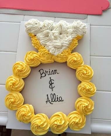 Engagement Ring Cupcake Cake
