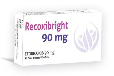 """دواء ريكوكسيبرايت 60-90-120 مجم """"Recoxibright 60-90-120mg"""" لعلاج التهاب المفاصل والألم"""