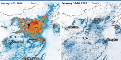 China Covid-19 contamination map